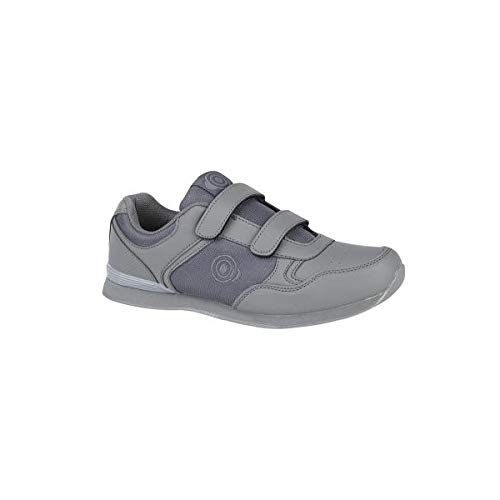DEK Dek Drive Herren Sneaker mit Klettverschluss, Weiß/Grau, Grau - Grey Pu/Textile - Größe: 41 EU Herren