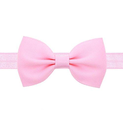 Jamicy® Baby Kinder Mädchen mini Bowknot Hairband elastisches Stirnband (Rosa) (Stirnband Rosa Elastisches)