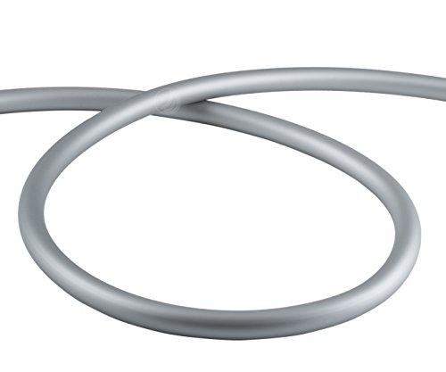 AMY Deluxe Shisha Silikonschlauch matt - silber | 150 cm (Silber-schlauch)