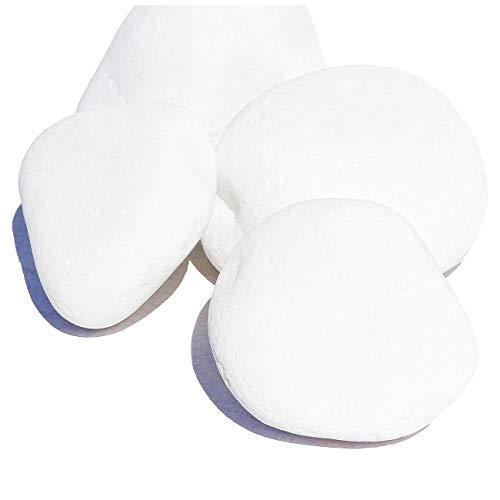 MGS SHOP Dekokies Dekosteine Streudeko Kies - Farbe wählbar (5 kg, Schneeweiß 40-80)