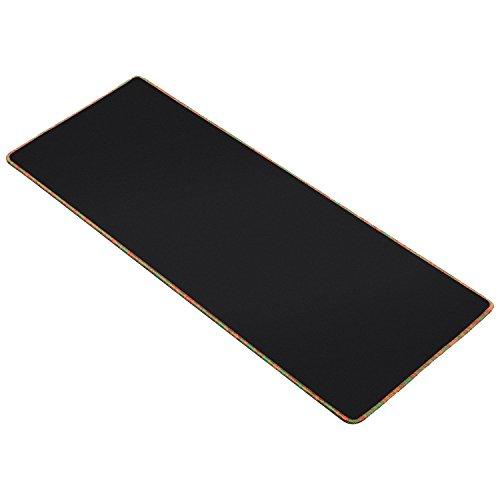 Xxl gaming mouse pad di grandi dimensioni (800x 300x 3mm) extended gamer del mouse con base in gomma antiscivolo, special-textured surface, supporto per computer, pc e laptop–multicolore