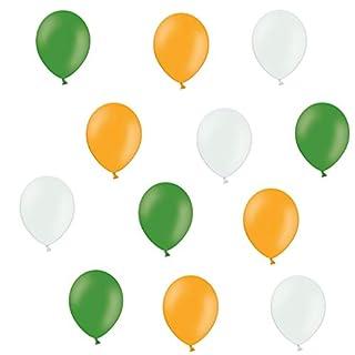 Luftballons - Grün/Orange/Weiß - 15 Stück Luftballons - Ballons als Fanartikel, Fußball, Deko, Party, Länder, Irland - für Helium geeignet - twist4® - je 5 grün/orange/weiß