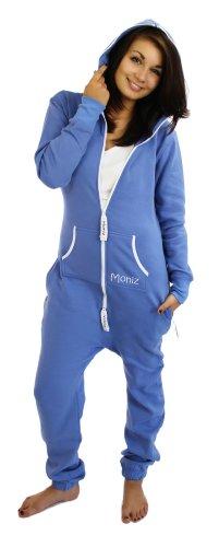 Moniz Damen Jumpsuit Blaugrau