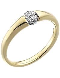 7aeadde62b92 Chimento de Anillo de Mujer de Oro de 18 CT y Diamantes de Bambú Flirt 1