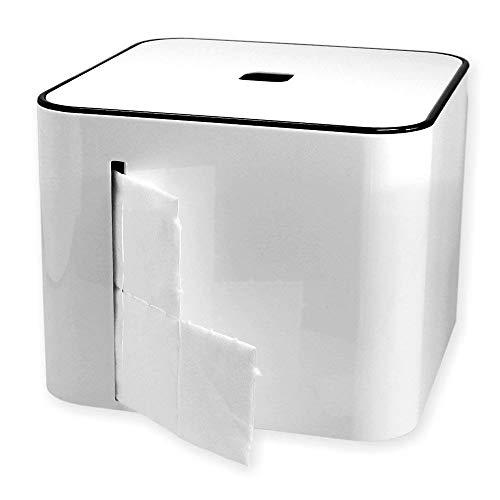 Spenderbox für Zellstoff-Tupfer Zelletten, Tupfer Zellettenbox, Zellettenspender, Kosmetex Tupfer-Spender