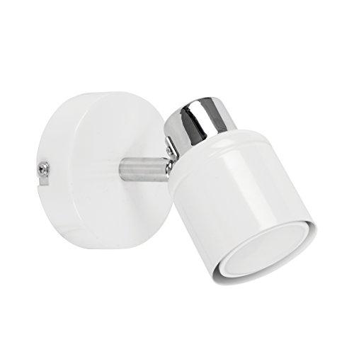 Minisun - bellissima plafoniera/lampada da parete, moderna con una luce spot orientabile e finitura bianca