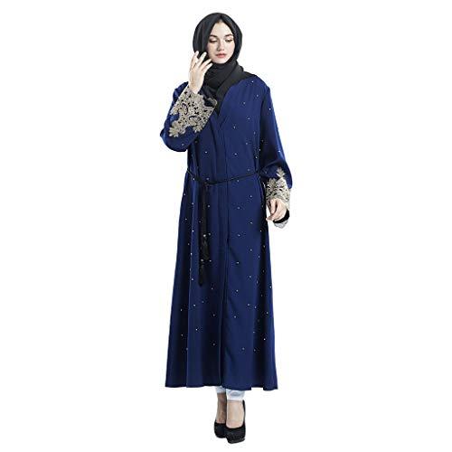 Bluse Womens Clothing (Frauen Nahen Osten Ethnische Langarm Abaya Kleid, routinfly Dubai Islamic Women Open Kaftan Abaya Muslimische Strickjacke Jilbab Maxi Dress Clothing)