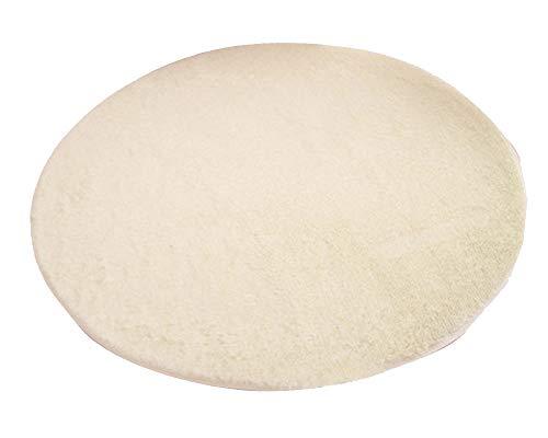 ATTAOL Teppich   Wohnzimmer Schlafzimmer Kinderzimmer   Vorleger oder Matte für Stuhl Hocker Sofa Beige 120CM -
