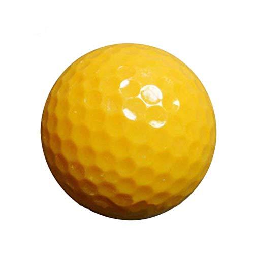 CZ-XING Balles de Golf en Mousse PU Pratiquer Jaune Jaune Mixtes Balles Balles de Golf Balles de...