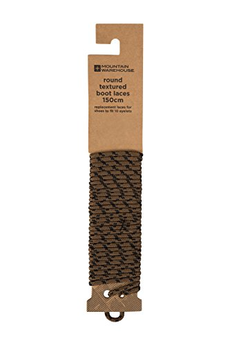 Mountain Warehouse Runde, strukturierte Stiefelschnürsenkel - 150 cm - Rund, strukturiert, Stiefelschnürsenkel, strapazierfähig, 10 Ösen - Ideal für Wanderstiefel Braun