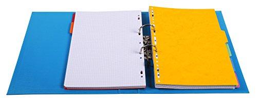 Exacompta 53054E Premium Kunststoff-Ordner (PVC, 2 Ringe, Rücken 50 mm, DIN A4) 10 Stück Farbkombination - 3