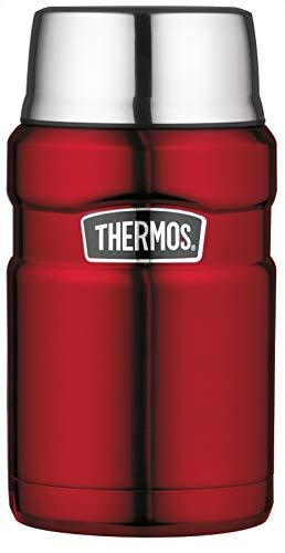 THERMOS Stainless King Speisegefäß, Edelstahl, Cranberry, 0,71 Liter