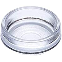 Bulk Hardware BH00018 Castor Cups, Outer Dimension 68 mm (2.5/8 inch) - Large, Clear, Pack of 8