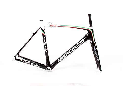 Marcello HP3 Carbon Rennrad-Rahmen | leichtes Rahmenset | UCI Zertifiziert | Perfekt zum Einsatz im Rad-Rennen (Italia, 56)
