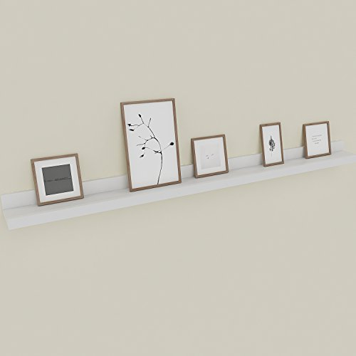 Nakey Modrine wandboard Bilderrahmenleisten schweberegal schweberegal Wand Regal Galerieboard Wandboard erfüllt vielen Zwecken Deko Wohnaccessoires weiß, 120x9cm