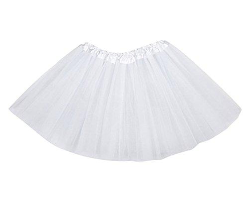 Tütü Damen Tüllrock Mädchen Ballet Tutu Rock Kinder Petticoat Unterrock Ballett Kostüm Tüll Röcke Festliche Tütüs Erwachsene Pettiskirt Ballerina Petticoat Für Dirndl Weiß Erwachsene