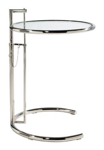 Eileen Gray Stil Cocktail Tisch-chrom -