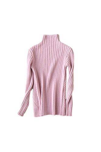 Pull à col roulé manches longues Yacun féminin Stripes pink