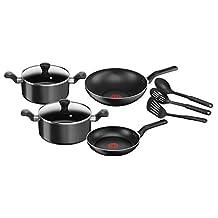 Tefal B143S984 9pieces Super Cook Non-Stick Cookware Set, Black, Aluminum