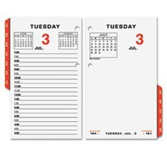 TWO-PAGE-PER-WEEKDAY CALENDAR REFILL, 3 1/2