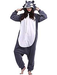 Adulte Unisexe Anime Animal Costume Cosplay Combinaison Pyjama Outfit Nuit Vetements Onesie Halloween Costume Soiree de Deguisements, Chat Noir