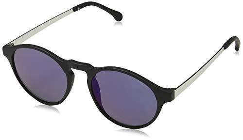 KOMONO Unisex-Erwachsene Devon Brillengestelle, Schwarz (Black/Silver), 49.0