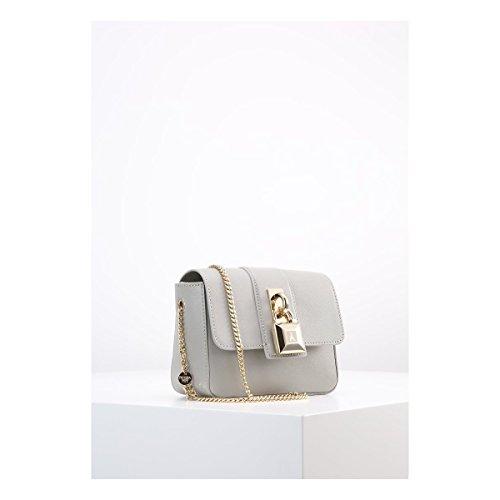 Patrizia Pepe Lock Fly Mini Bag Sac bandoulière cuir 17 cm warm gray