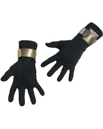 Disguise Deluxe Erwachsene G.I. Joe Snake Eyes Handschuhe - Erwachsene Std. (Gi Joe Kostüme Für Erwachsene)