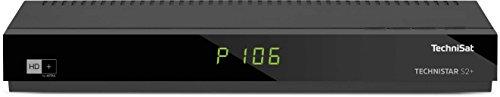 TechniSat TECHNISTAR S2+ / HD Sat-Receiver inklusive HD+ Karte (freigeschaltet für 6 Monate), LAN-Schnittstelle, UPnP-Livestreaming, PVR-Aufnahmefunktion, schwarz -