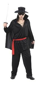 Humatt Perkins 51271 - Disfraz de el Zorro para hombre