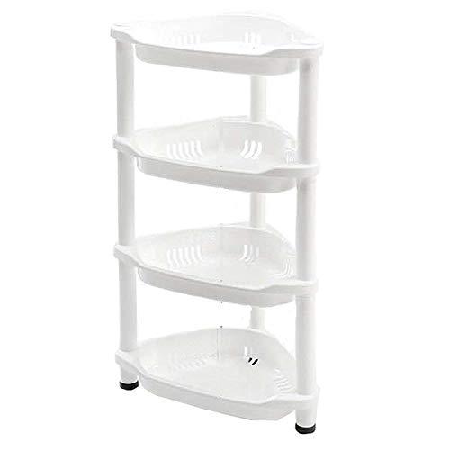 Mufira - Estantería para Ducha (Esquina, Resistente a la corrosión, 4 estantes, 77 x 37 x 26 cm), Color Blanco