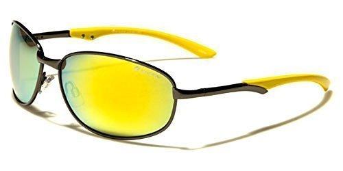 f9a550e9ea38c7 OXIGEN HOMME OVALE FIN Lunettes de soleil métalliques parfait pour sport ou conduite  COMPLET UV400 Protection