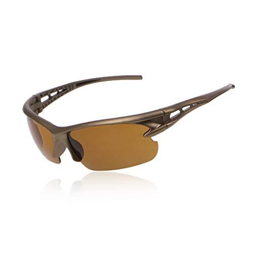ZOUCY Gafas de Sol de Ciclismo Gafas Anti-UV Gafas de Montar Bicicletas Deportes Polarized Eyewear Tea