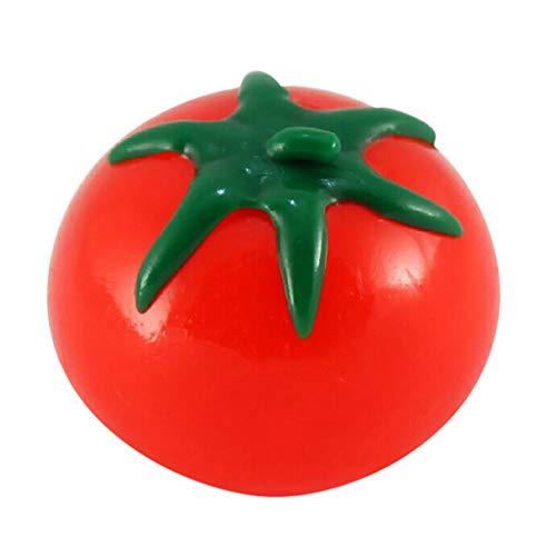 Huhua ㋡Nouveauté Simulation Fruit Fruits Tomate en Forme De Boule d'eau De Tomate Jouets Soulagement du Stress