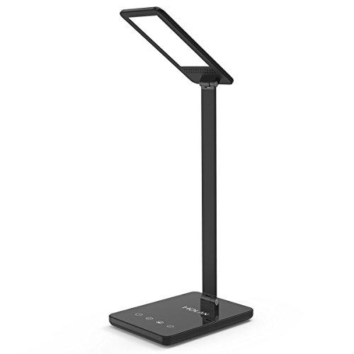 Dimmbare LED Schreibtischlampe, Soft Digits 8W Tischlampe / Tischleuchte / Nachttischlampe mit Touch Panel / Anpassbare Farbtemperatur / Memory-Funktion / Automatischer zeitgesteuerter zum Lesen, Lernen und Entspannten Arbeiten