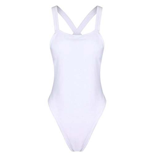 TWIFER Damen One Piece Push-up Bikini Einteiliger Badeanzug Backless Bademode Overall