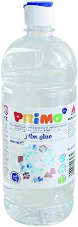 Morocolor PRIMO Film glue, colla ad acqua 1000 ml colla trasparente in bottiglia con tappo dosatore, alto pote