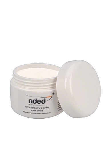 (NDED Make up Acryl Pulver - Premium Camouflage Acryl Puder farbig - Mikrofeines Cover Acryl Farbpulver Nude, Snow White, weiß, 15 g, lufthärtend)