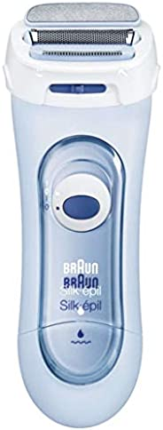Braun Silk-Epil Lady Shaver 5160 – Wet & Dry, Cordless use with Battery + 2 Attachm