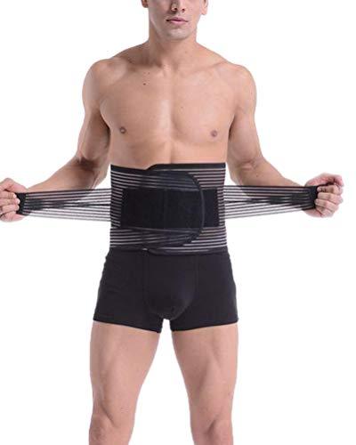 Taille Trimmer, Schwitzgürtel zur Fettverbrennung Verstellbarer Taillenformer Korsett Corset Power Gürtel Fitnessgürtel Bauch Weg Schwitzgürtel Schwarz XL