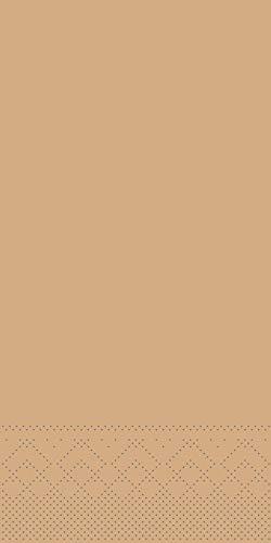 Tissue 40 x 40 cm | 1/8- Falz Dinner Serviette | praktische Einmal-Serviette | 100 Stück | (Sand, 40 x 40 cm) ()