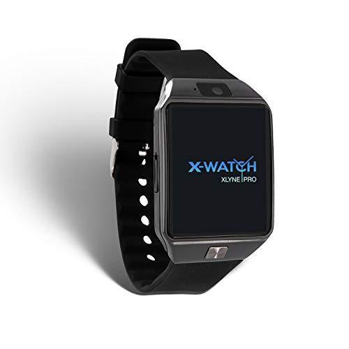 X-WATCH 54024 X30W Smartwatch mit SIM Karte black chrome
