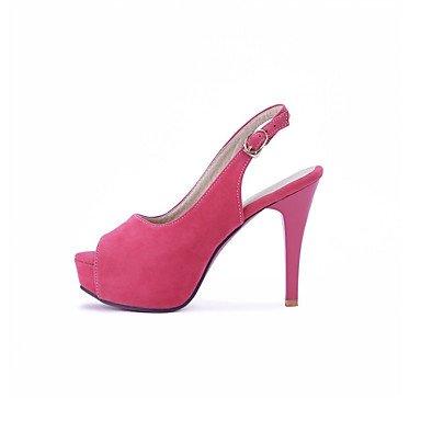 CH&TOU Da donna-Stivaletti-Matrimonio Formale CasualA stiletto-Finta pelle-Nero Blu Rosa Pink