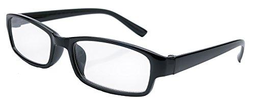 4sold Slim Damen Herren Lesebrille Blaufilterbrille Blaues Licht und UV Schutzbrille Bildschirmbrille fortgeschrittene Gamer Gamingbrille Computerbrille Black (Black, 0.00)