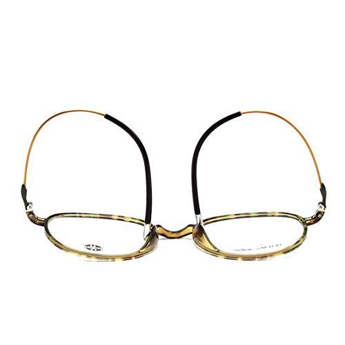 Shiduoli Retro Brillengestell rund Brillengestell ohne Brille für Damen und Herren (Color : Leopard)