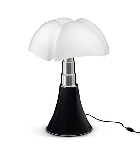 Grande Lampe Pipistrello Noir Mat H66-86cm