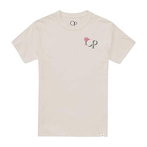 Ocean Pacific Beach Scene Camiseta, Blanco (Vintage White Vwh), Large para Hombre