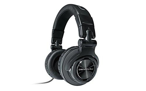 Denon DJ HP1100, Cuffie DJ professionali con circumaurale padiglione, Nero