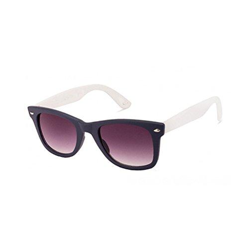 Dervin Black Clear Frame Brown Lens Unisex Wayfarer Sunglasses