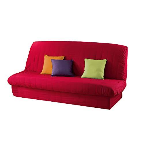 Douceur d'intérieur - 1603195, fodera per divano letto, 120 x 140 cm, 185 x 200 cm, essentiel, poliestere unito, rosso, plastica